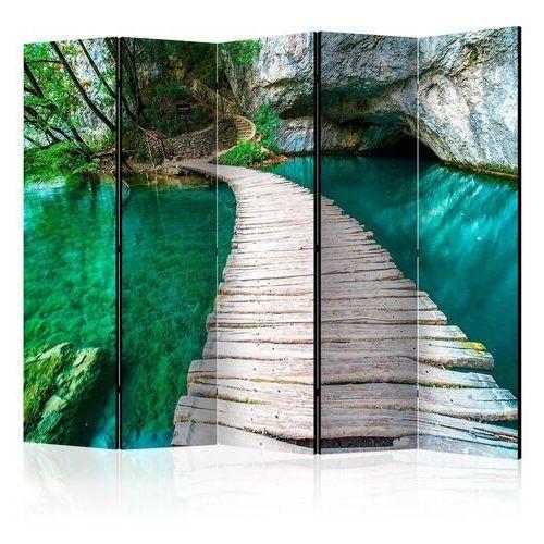 Artgeist Parawan 5-częściowy - szmaragdowe jezioro ii [room dividers]