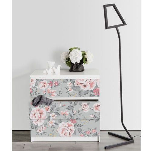 Naklejki ikea malm eleganckie kwiaty w stylu vintage marki Coloray.pl