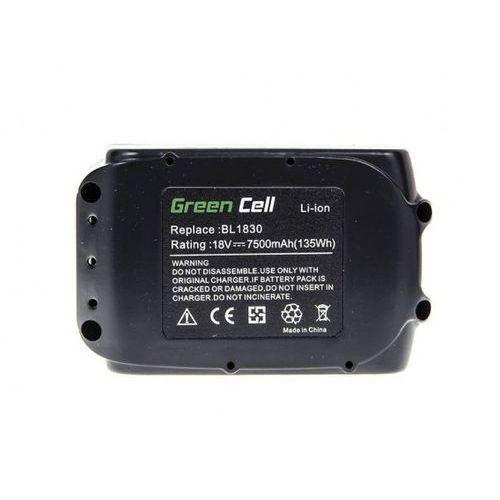 Makita bateria  akumulator bl1830 18v 7,5 ah 194204-5 ogniwa panasonic marki Green cell