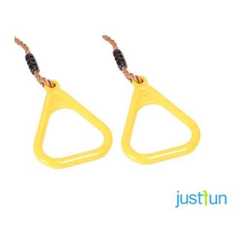 Obręcze plastikowe trójkątne - żółty marki Just fun
