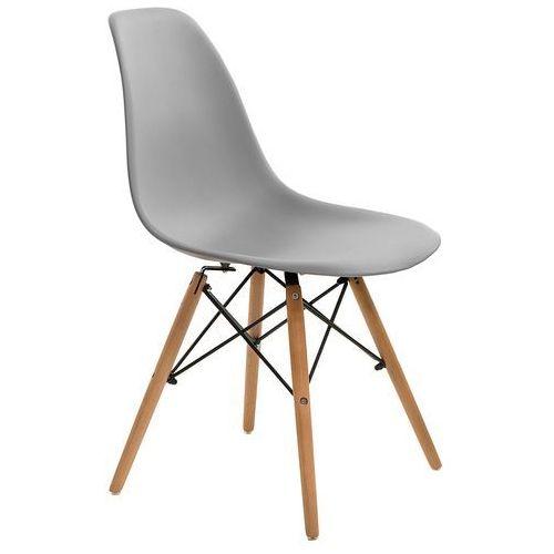 Krzesło simplet p016w basic szare marki Dkwadrat