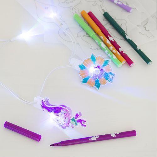 Zestaw dekoracyjny i do kolorowania światełka led - trolle marki Sambro