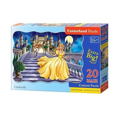 Puzzle Maxi Konturowe Cinderella 20 - Castor (5904438002351)