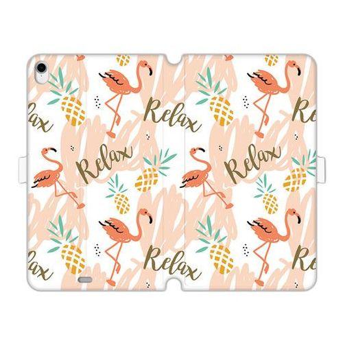 Apple ipad pro 11 - etui na tablet wallet book fantastic - różowe flamingi marki Etuo wallet book fantastic