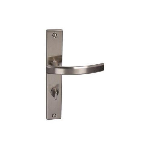 Klamka drzwiowa z długim szyldem do wc fiume 72 nikiel szczotkowany marki Inspire