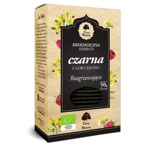 Herbata czarna rozgrzewająca bio (25 x 2 g) - dary natury marki Dary natury - test