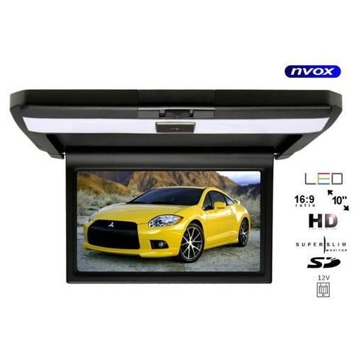 """Nvox vrf1015 bl monitor samochodowy podwieszany podsufitowy lcd 10"""" cali av sd 12v (5909182423773)"""