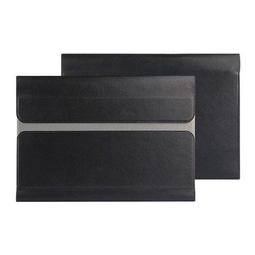 4kom.pl Uniwersalne etui skórzane do tabletu lenovo yoga book 10.1 czarne - czarny