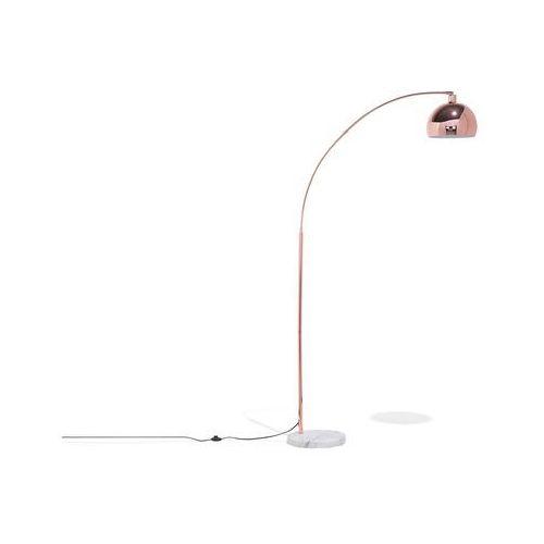 Beliani Lampa podłogowa metalowa miedziana paroo
