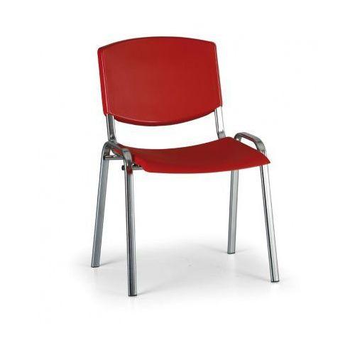 Krzesło konferencyjne Smile, czerwony - kolor konstrucji chrom