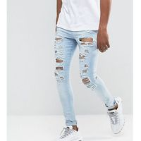 Jaded London Muscle Jeans In Light Blue With Distressing - Blue