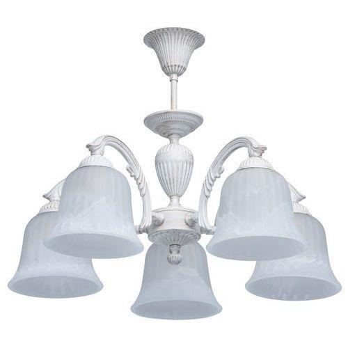 Delikatny biały żyrandol z klasycznymi zdobieniami MW-LIGHT (450014805)