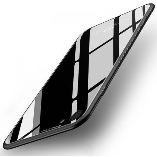 Cienkie Etui ze szkła MSVII iPhone 8 / 7 czarne, kolor czarny
