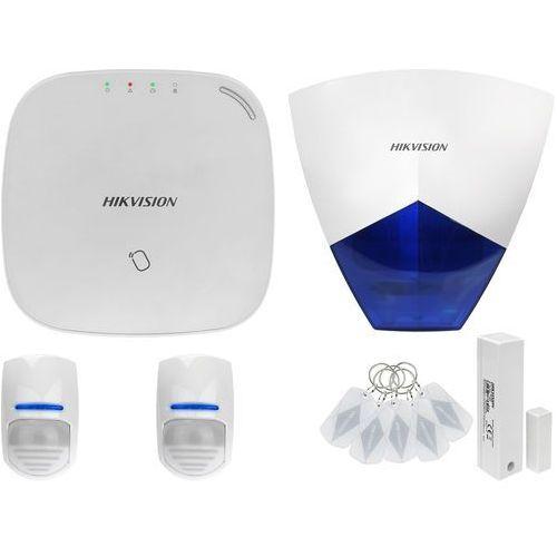 ZA12620 Bezprzewodowy system alarmowy GSM 4G 2 czujki ruchu HIKVISION z sygnalizatorem zewnętrznym