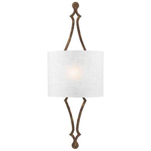 Kinkiet LAMPA ścienna FE/TILLING1 DSGL Elstead FEISS klasyczna OPRAWA abażurowa do sypialni złota biała (5024005327615)