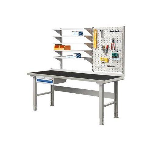 Stół warsztatowy solid 500, z wyposażeniem, 2000x800 mm, guma marki Aj produkty