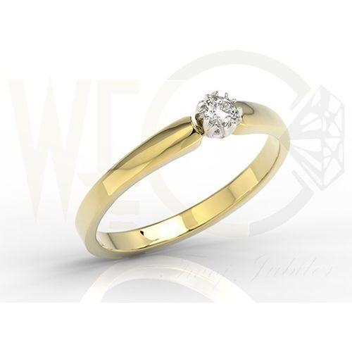 Pierścionek zaręczynowy z żółtego i białego złota z brylantem BP-2110ZB
