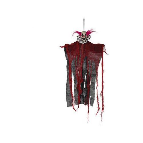 Dekoracja wisząca Czerwony Klaun - 60 cm - 1 szt.