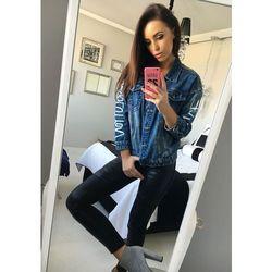 Granatowa kurtka jeansowa damska Denley 5131 marki JEAN LOUIS FRANCOISE