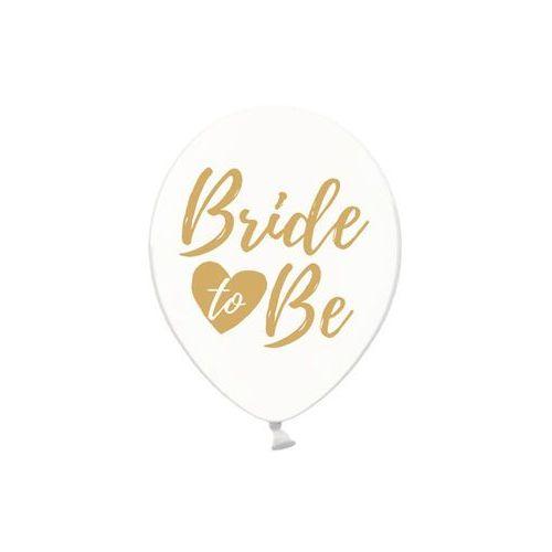 Balony przezroczyste ze złotym nadrukiem Bride to be - 30 cm - 6 szt. (5902230764347)