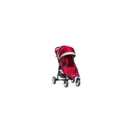 Baby jogger W�zek spacerowy city mini single 4w + gratis (crimson/gray)