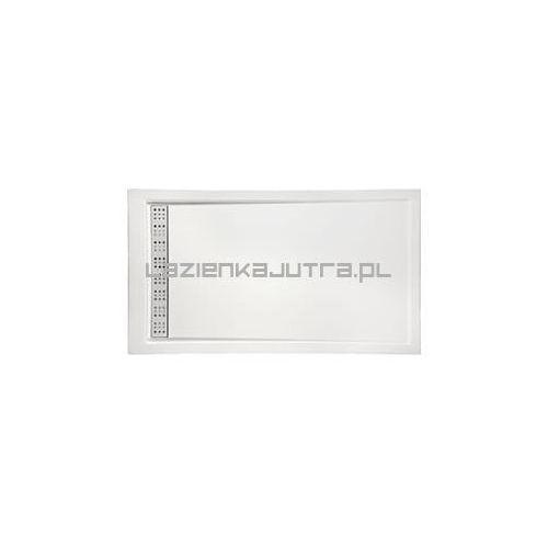 west brodzik prostokątny z odpływem liniowym 100x80x3x5,5cm 00136 marki Polimat