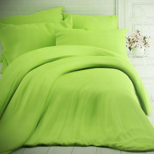 pościel bawełniana zielona, 140 x 200 cm, 70 x 90 cm, 140 x 200 cm, 70 x 90 cm marki Kvalitex
