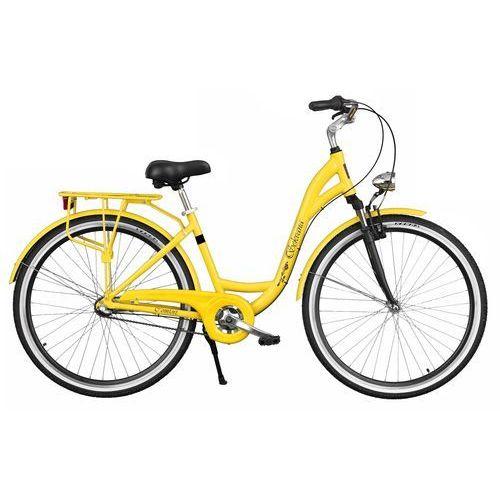 Rower DAWSTAR Sekvana A3B Żółty + DARMOWY TRANSPORT! + Zamów z DOSTAWĄ JUTRO! + 5 lat gwarancji na ramę!