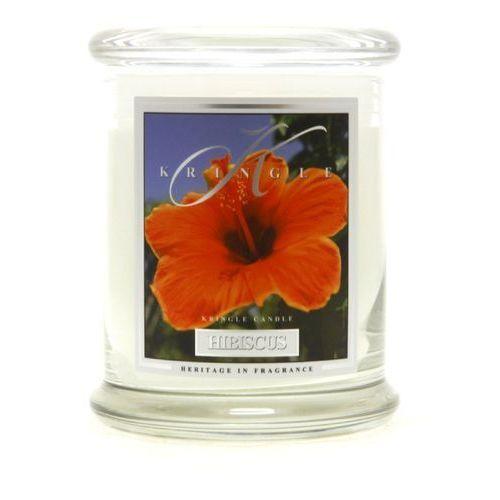 Hibiscus świeca zapachowa hibiskus średni słoik 16oz, 454g, 2 knoty marki Kringle candle