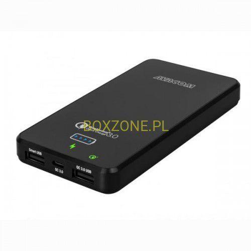 Avacom , power bank, do ładowania telefonów i innych urządzeń, 10000mah, czarny (8591849071525)