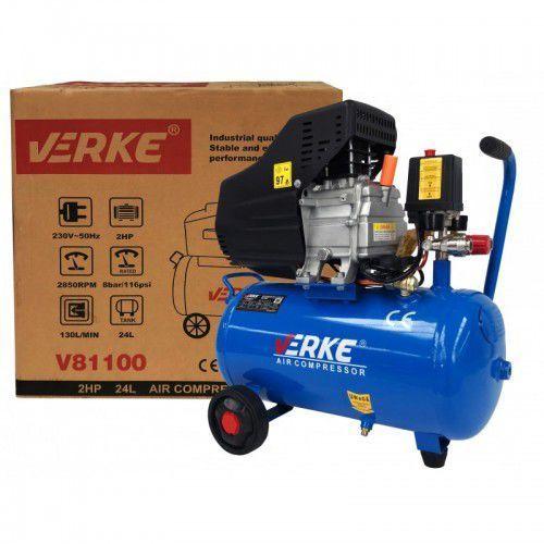 Verke Kompresor sprężarka 24l 8bar 2hp 130l/min bm