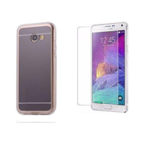 Zestaw   Slim Mirror Case Szary   Etui + Szkło ochronne Perfect Glass dla modelu Samsung Galaxy A3 2017