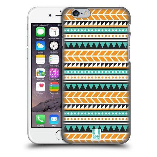 Head case Etui plastikowe na telefon - aztec patterns orange and green