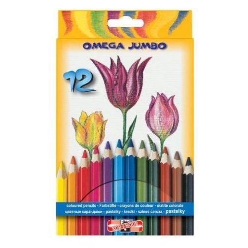 Koh-i-noor Kredki ołówkowe 12 kolorów jumbo omega (8593539227144)