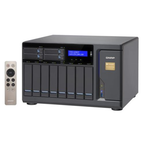 Qnap Serwer nas  tvs-1282t-i7-32g, intel® core™ i7-6700 3.4 ghz quad core processor, ram 32gb ddr4 (max. 32gb)