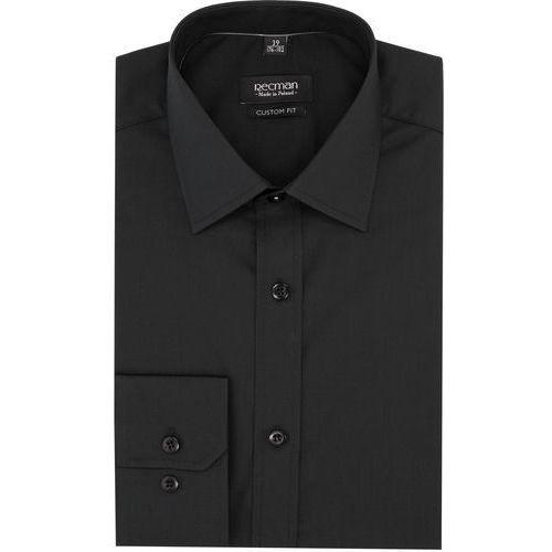 koszula versone cod4 długi rękaw custom fit czarny, kolor czarny