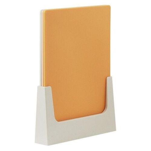 Rig tig - deski do krojenia ze stojakiem - 3 szt - pomarańczowe