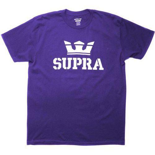 koszulka SUPRA - Above Regular Ss Tee Purple/White-Wht (504) rozmiar: L, kolor biały