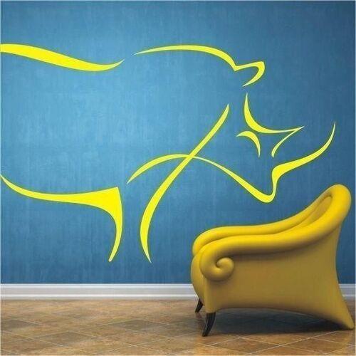 Wally - piękno dekoracji Naklejka nosorożec 56