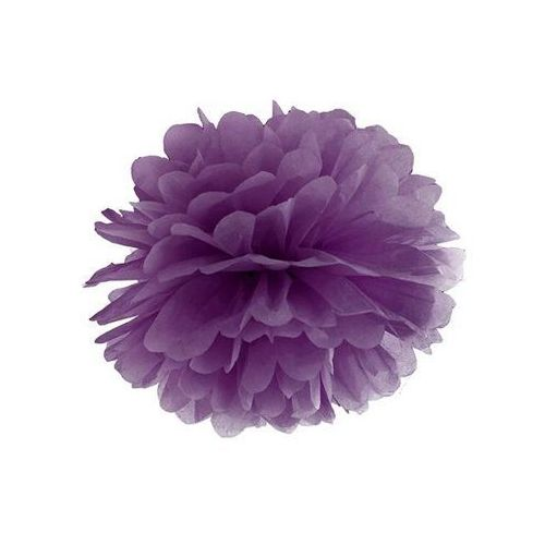 Dekoracja wisząca pompon kwiat - purpurowa - 35 cm - 1 szt. (5902230712072)