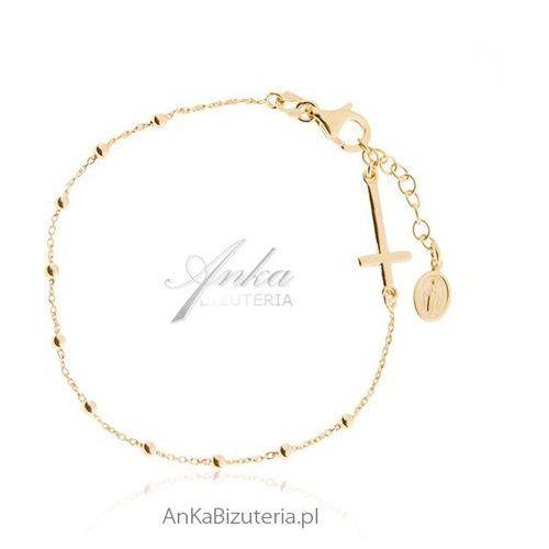Anka biżuteria Ankabizuteria.pl różaniec bransoletka srebro pozłacane biżuteria włoska