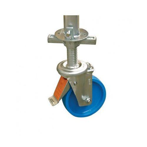 B2b partner Zestaw kółe 150 mm z regulacją wysokości do aluminiowego rusztowania, 4 szt
