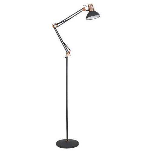 Stojąca LAMPA podłogowa GARETH 4523 Rabalux regulowana OPRAWA na wysięgniku do salonu loft miedź grafitowa
