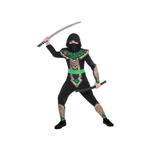 Amscan Kostium dziecięcy zielony smoczy ninja - 9/11 lat (140) (0013051457662)