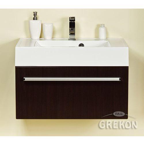 Gante Szafka łazienkowa z umywalką 70/50 fokus wenge połysk
