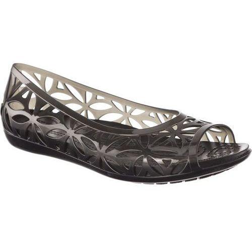 Crocs Sandały isabella jelly ii flat black/black black/black