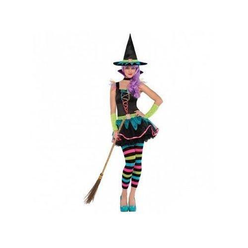 Amscan Kostium neonowa wiedźma dla dziewczyn - 10/12 lat (152) (0013051492113)