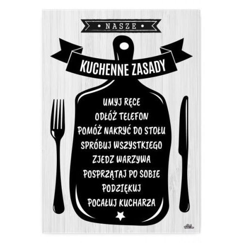 "Plakat metalowy ""Kuchenne zasady"", 5437-50233_20200324082248"