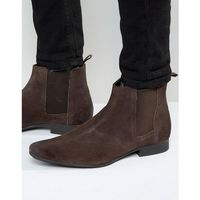 chelsea boots in brown suede - brown, Frank wright