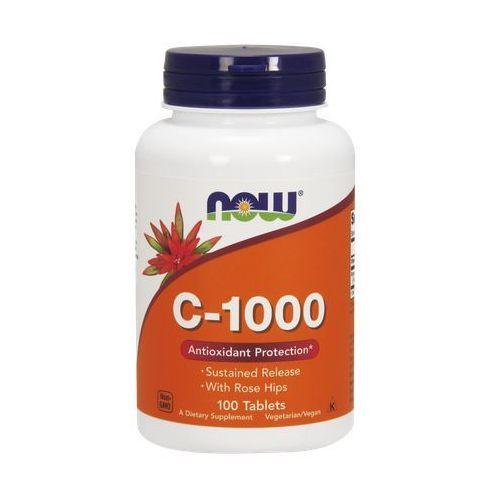 Now Foods Witamina C-1000 z dziką różą o przedłużonym uwalnianiu 100 tabl., postać leku: tabletki